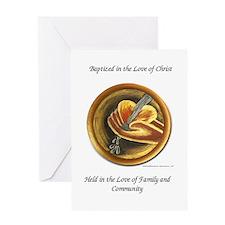 Baptism of girl - Greeting Card