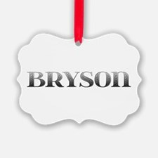 Bryson Carved Metal Ornament