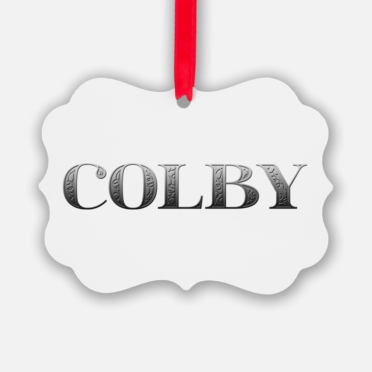 Colby Carved Metal Ornament