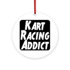 Kart Racing Addict Ornament (Round)