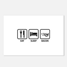 Eat Sleep Bacon Postcards (Package of 8)