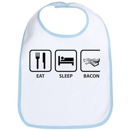 Eat Sleep Bacon Bib