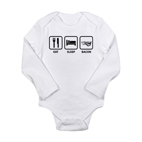 Eat Sleep Bacon Long Sleeve Infant Bodysuit