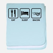 Eat Sleep Bacon baby blanket