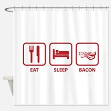 Eat Sleep Bacon Shower Curtain