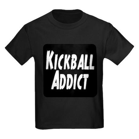 Kickball Addict Kids Dark T-Shirt