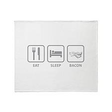 Eat Sleep Bacon Throw Blanket
