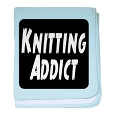 Knitting addict baby blanket