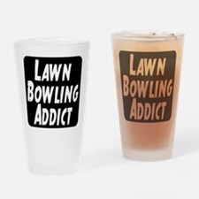 Lawn Bowling Addict Drinking Glass