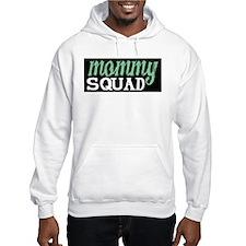 Mommy Squad Logo on Black Hoodie