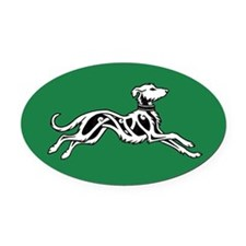 Irish Wolfhound Oval Car Magnet (Right)