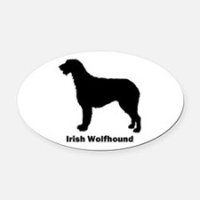 Irish Wolfhound Oval Car Magnet