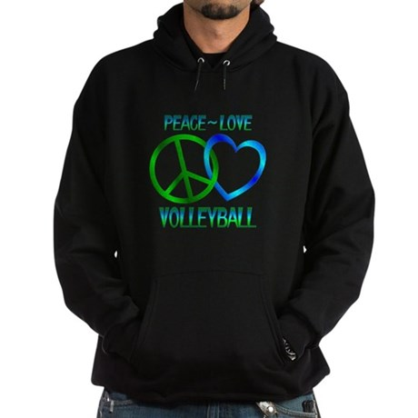 Peace Love Volleyball Hoodie (dark)