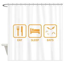Eat Sleep Bats Shower Curtain