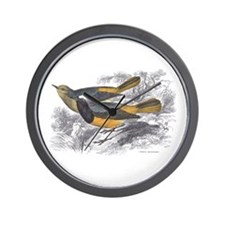 Tithy's Redstart Bird Wall Clock