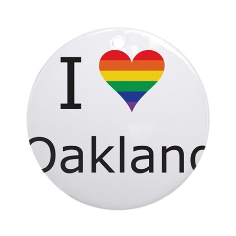 I Heart Oakland Ornament (Round)