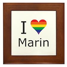 I Heart Marin Framed Tile