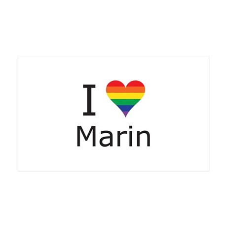 I Heart Marin 35x21 Wall Decal