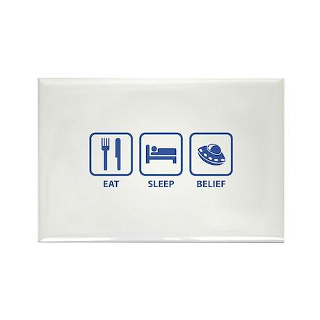 Eat Sleep Belief Rectangle Magnet (100 pack)