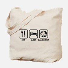 Eat Sleep California Tote Bag
