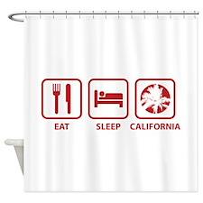 Eat Sleep California Shower Curtain