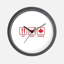 Eat Sleep Canada Wall Clock