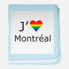 J'aime a Montreal baby blanket