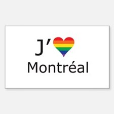 J'aime a Montreal Decal