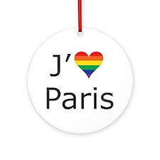 J'aime a Paris Ornament (Round)