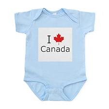 I Maple Leaf Canada Infant Bodysuit