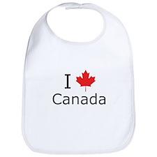 I Maple Leaf Canada Bib
