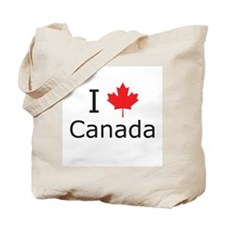 I Maple Leaf Canada Tote Bag