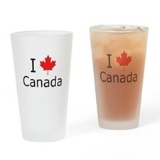 I Maple Leaf Canada Drinking Glass