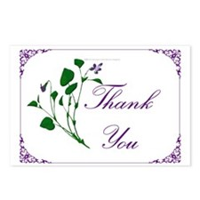 Violet Thank You Postcards (Package of 8)