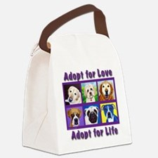 Adopt for Love, Adopt for Life Canvas Lunch Bag