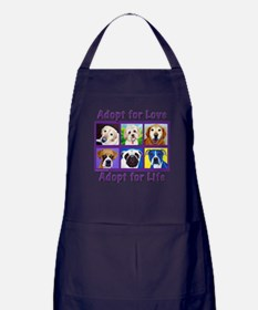 Adopt for Love, Adopt for Life Apron (dark)