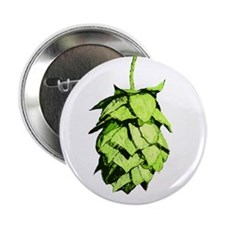 """Green hop drawing 2.25"""" Button"""