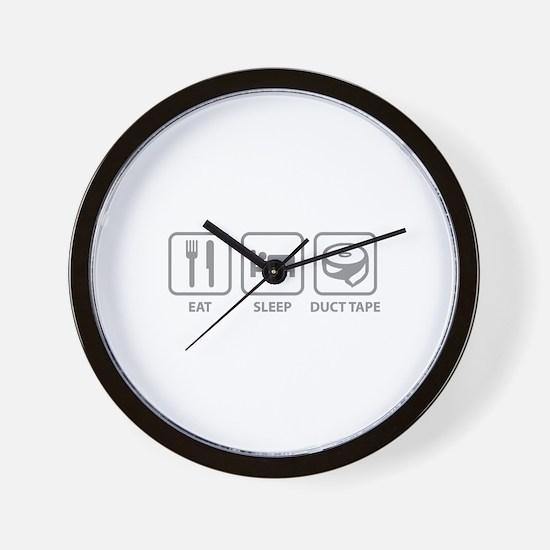 Eat Sleep Duct Tape Wall Clock