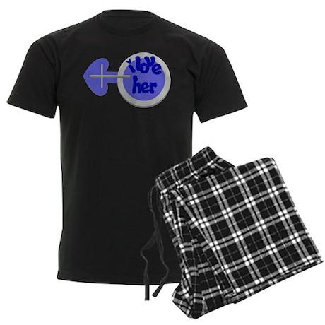 I love her -Couple shirt Men's Dark Pajamas