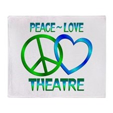 Peace Love Theatre Throw Blanket
