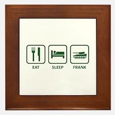 Eat Sleep Frank Framed Tile