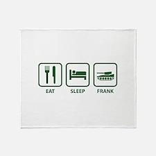 Eat Sleep Frank Throw Blanket