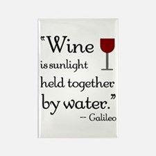 Wine is sunlight held together by water Rectangle