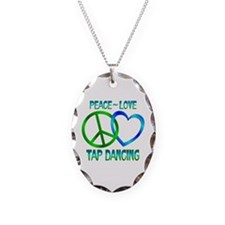 Peace Love Tap Dancing Necklace