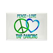 Peace Love Tap Dancing Rectangle Magnet (100 pack)