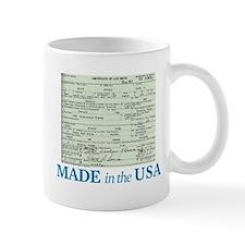 Barack Obama Made In The USA Birth Certificate Small Small Mug