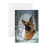 German shepherd christmas Greeting Cards (20 Pack)