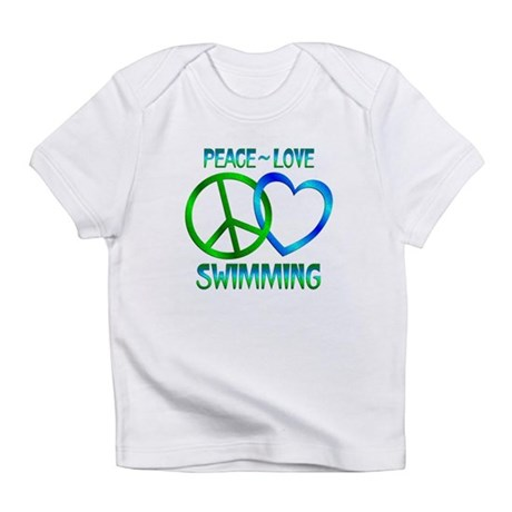 Peace Love Swimming Infant T-Shirt