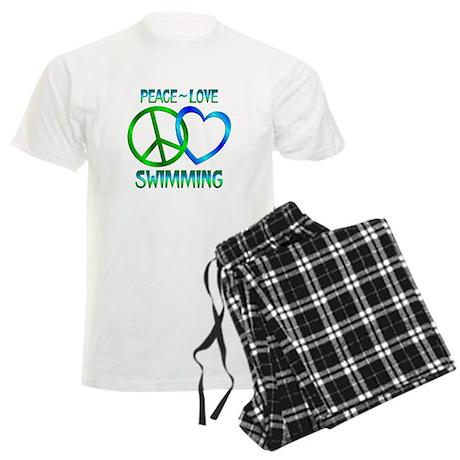 Peace Love Swimming Men's Light Pajamas