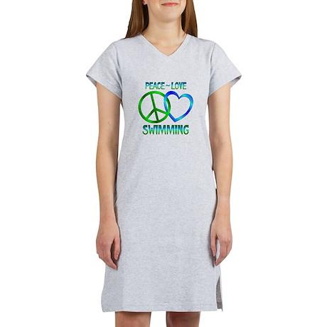 Peace Love Swimming Women's Nightshirt